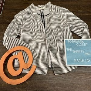 Ava & Viv women's hook and eye Stripe blazer SZ 1X